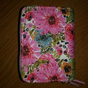 BUXTON Pink Floral RFID Leather Wallet